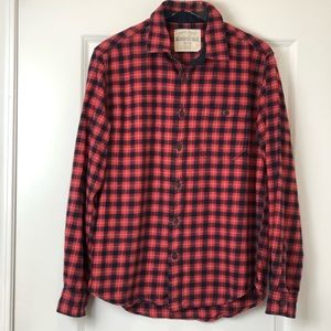 Aeropostale Long Sleeve Red Plaid Flannel Shirt
